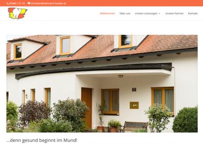 Homepageprojekt – Zahnarzt Dr. Hacker in Purgstall