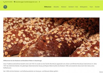 Homepagerenovierung – Bäckerei&Konditorei Weber in Atzenbrugg