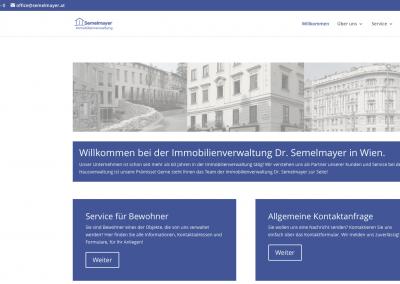 Neugestaltung des Internetauftritts der Immobilienverwaltung Semelmayer in Wien
