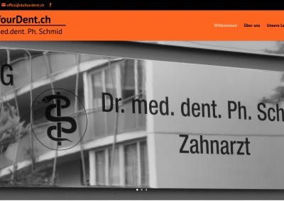 Neugestaltung der Homepage für Zahnarzt Dr. Schmid in Zürch Seefeld